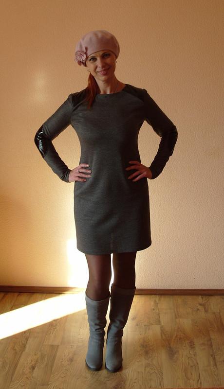 Платье серое, но нескучное