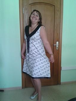 Работа с названием платье с воротничком