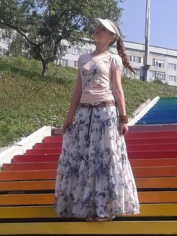 Работа с названием Летняя юбка макси