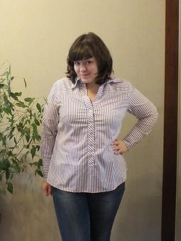 Работа с названием полосатая рубашка
