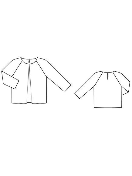 Как сшить блузку совстречной складкой