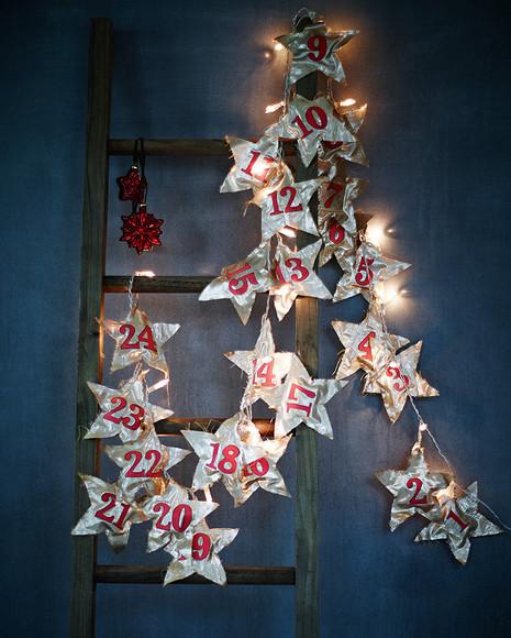 Новогодняя гирлянда иззвезд