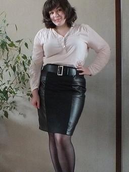 Работа с названием Долгая юбка с вставками