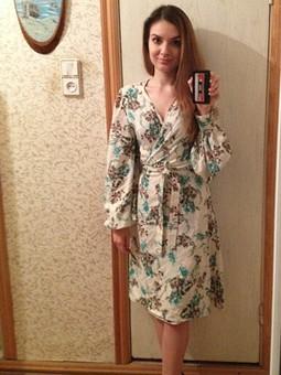 Работа с названием Неудачное платье с запахом