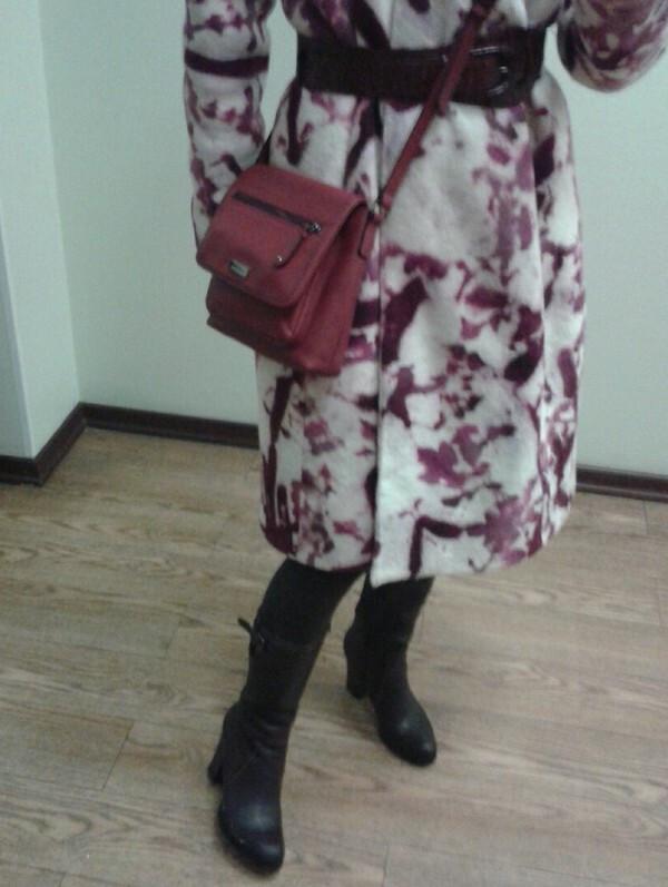 Пальто вкляксах, зимнее от Станечка