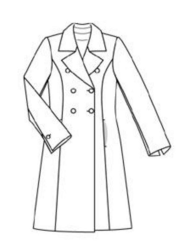 Пальто цвета электрик.