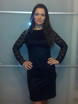 Работа с названием Платье черное