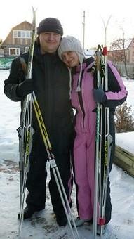 Работа с названием Лыжный костюм для мужа