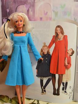 Работа с названием Новое платье новой кукле