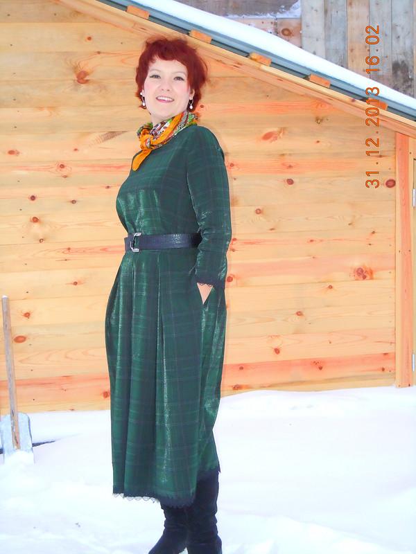 Как бы новогоднее платье :) от collema