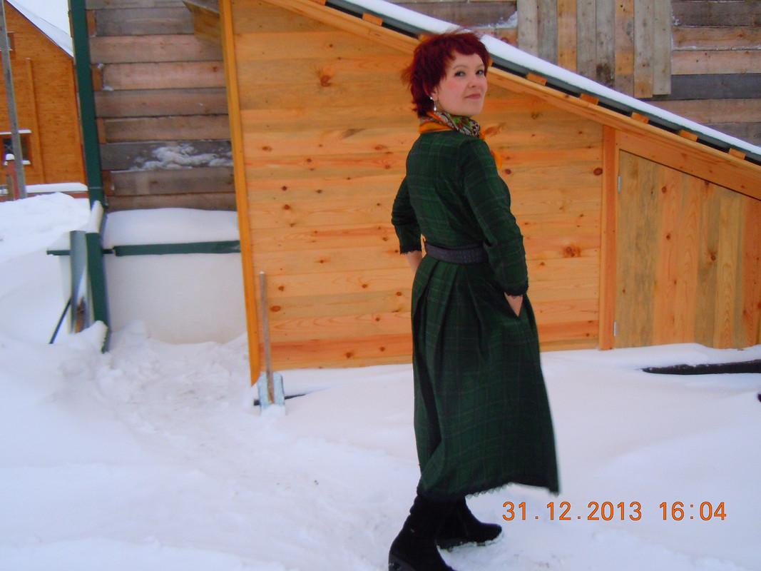 Как бы новогоднее платье :)