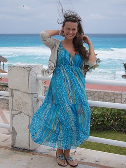 Работа с названием Морское платье