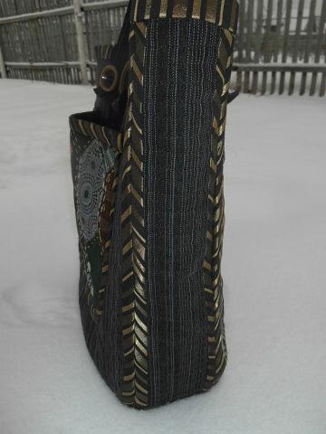 Первая изтрёх январских  джинсовых сумок от Лоскутушка