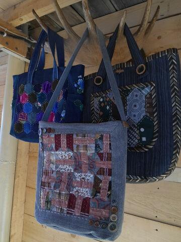 Три январские джинсовые сумки. от Лоскутушка