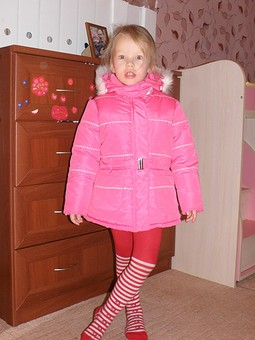 Работа с названием Куртка зимняя на девочку