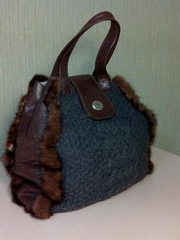 Работа с названием элегантная сумочка для зимы