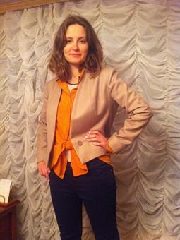 Работа с названием :Жакет и блуза для дочери