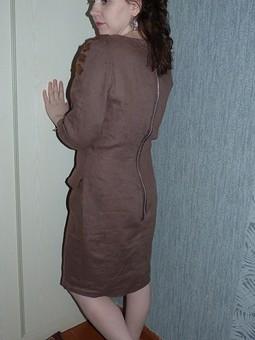 Работа с названием Льняное платье