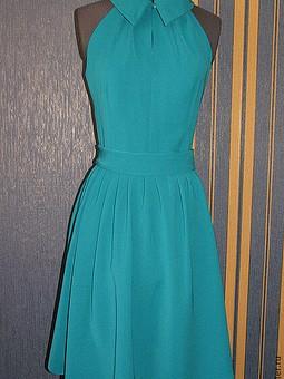 Работа с названием Платье с американской проймой