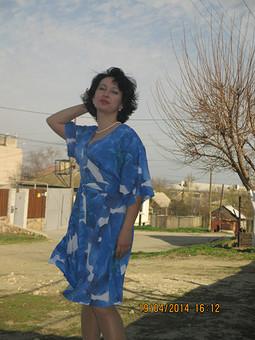 Работа с названием Платье с поясом оби