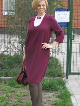 Работа с названием Платье без планок-оригами