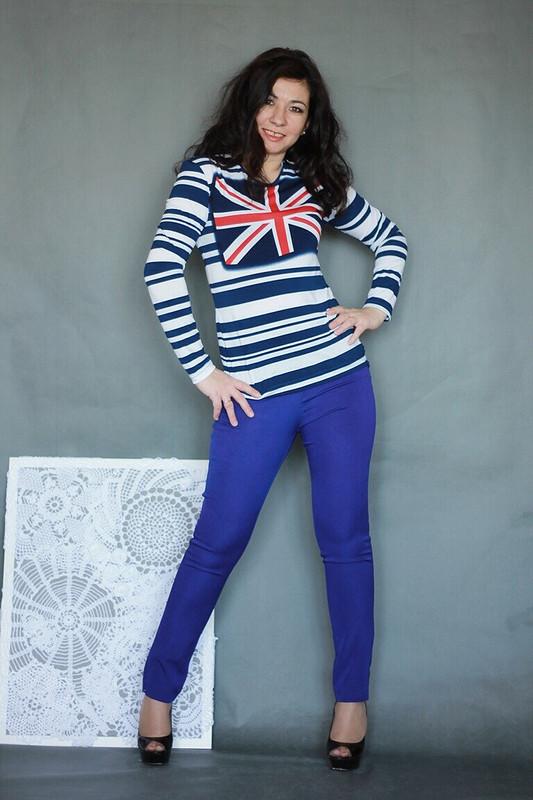 Пуловер сБританским флагом