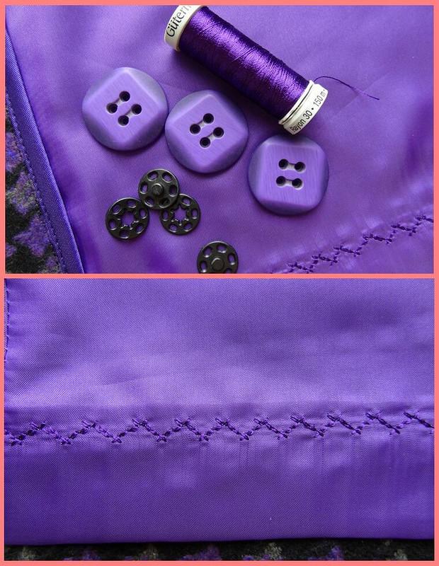Весенне-фиолетовый костюм