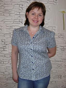 Работа с названием Первомайская блузка,или РУБАШКА ДЛЯ НАТАШКИ!