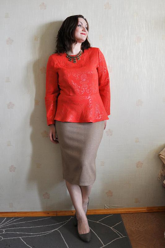 Жаккардовая блузка.