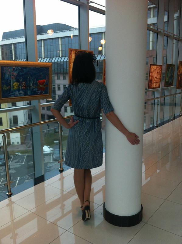«вязаное» платье
