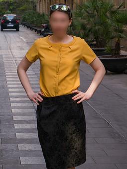 Работа с названием Горчичная блузка