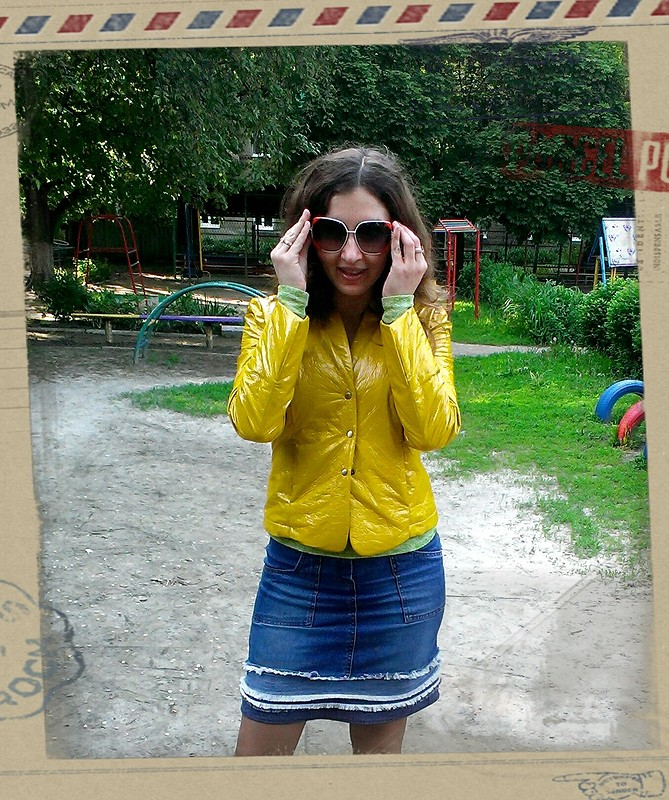 Лаковая летняя курточка от Лямочка