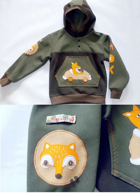 трикотажный костюм Лисы
