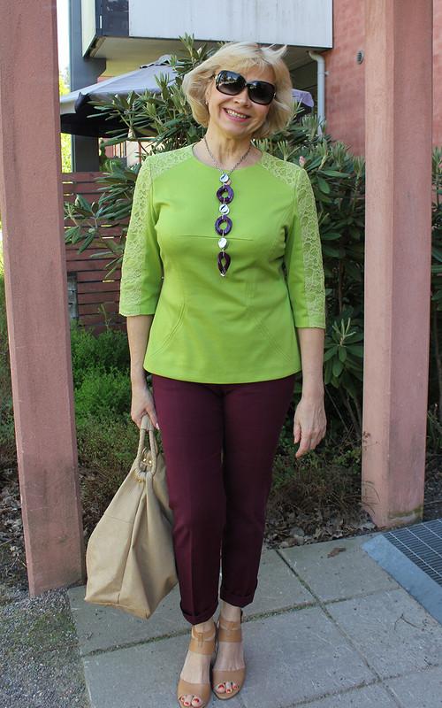 Пуловер «Зеленое настроение»