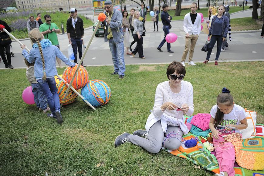 Всемирный день вязания вМоскве