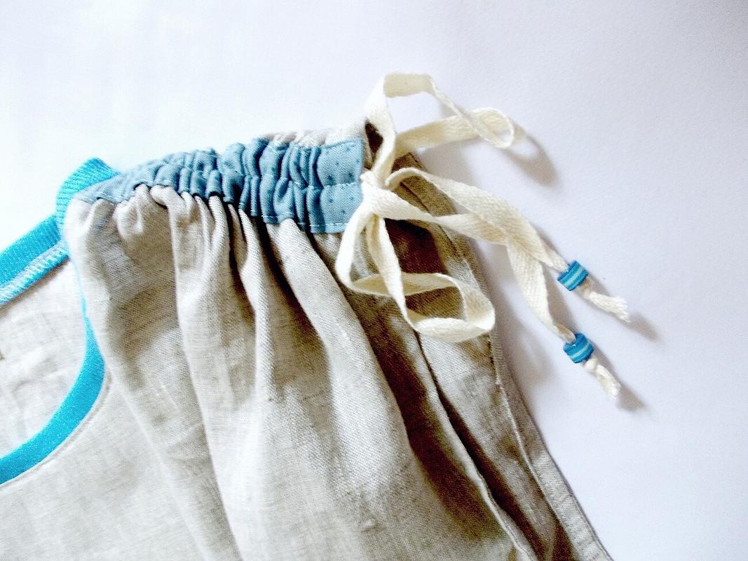 льняное платье Цветы Дигуэна