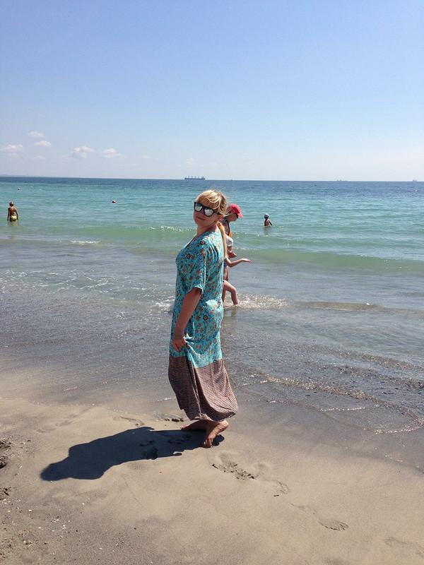 Пляжное maxi платье