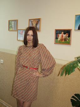 Работа с названием Платье с рукавами