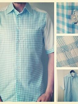 Работа с названием Мужская рубашка из остатков.