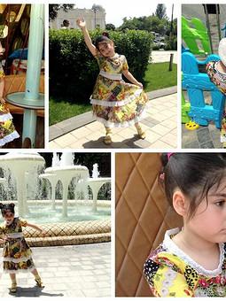Работа с названием Платье для дочки - легкое