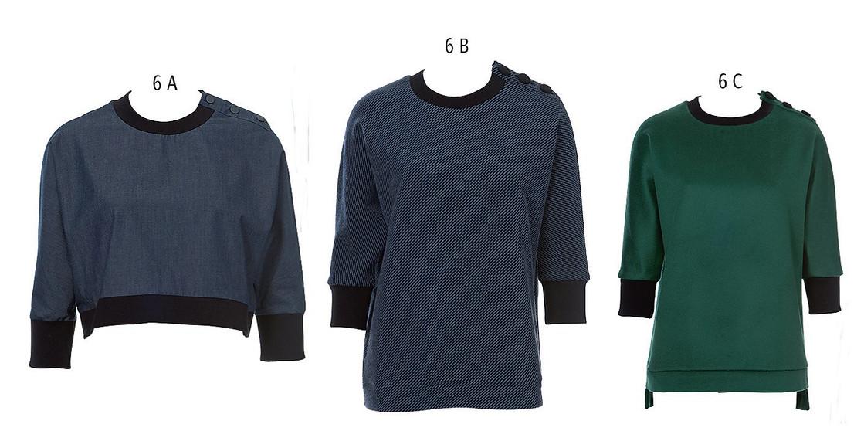 Пуловер сцельнокроеным рукавом
