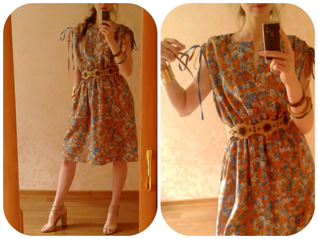 Платье изсоветского шелка