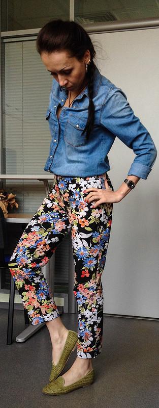 Цветочные штанцы