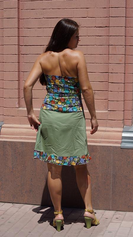 Яблочное платье-фартук.