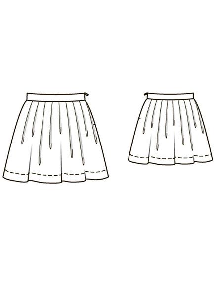 Как сшить детскую юбку вскладку изжаккарда