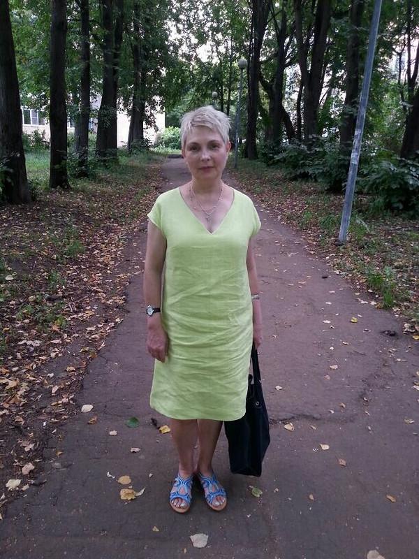простенькое платье длятетушки