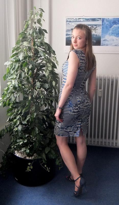 Платье «Баварский флаг»