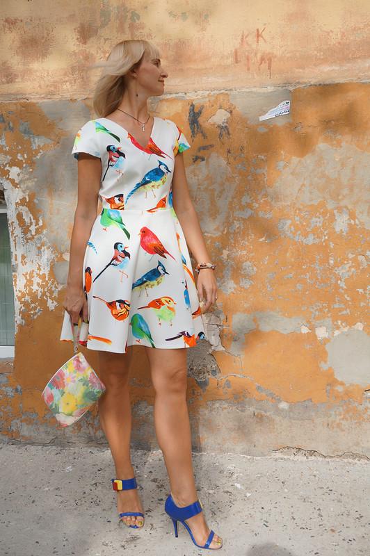 Учавствует вконкурсе Платье сптицами - летящее
