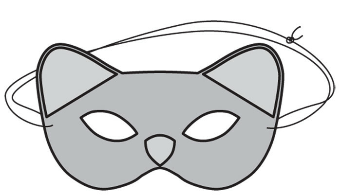 Детская маска кошечки