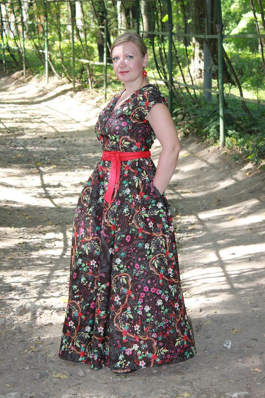платье сптицами